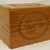 Horsehead wooden urn