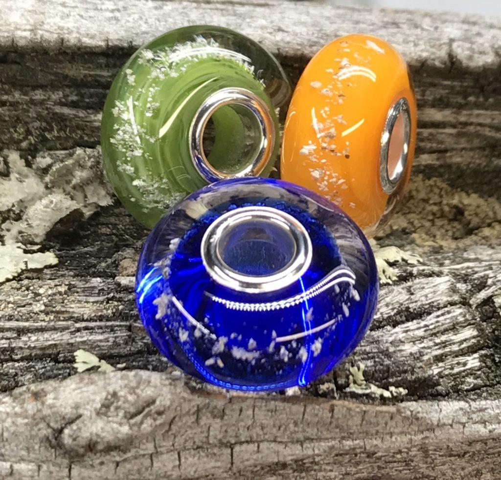 Glass Memorial Beads
