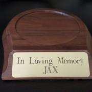 wooden base nameplate