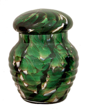Regal Emerald Glass Pet Urn
