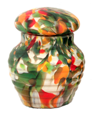Regal Fall Glass Pet Urn