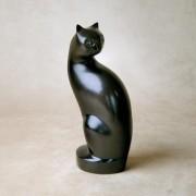 Tall Kitty Metal Urn