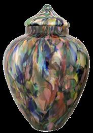 Renaissance Spring Pastels Crystal Urn
