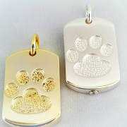 Generic paw dog tag with cremains