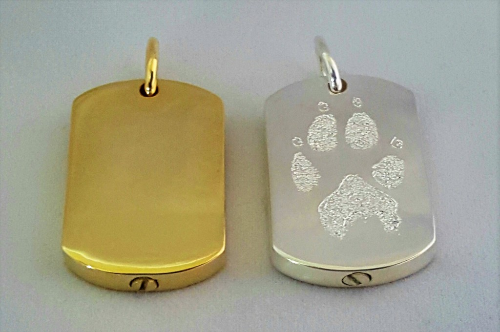 Custom Nose or Paw Print Dog Tag w/cremains